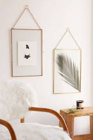 home decor exhibition copper glass display hanging frames for photos or artwork home