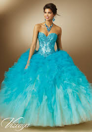 ombre ruffled tulle quinceanera dress style 89050 morilee