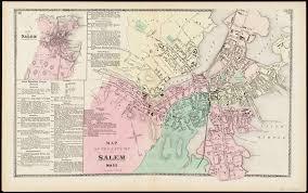 Massachusetts City Map map of the city of salem mass