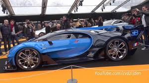 car bugatti 2016 bugatti vision gt at the 2016 concept car show in paris side view