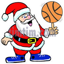 free drawing of a basketball santa from the category