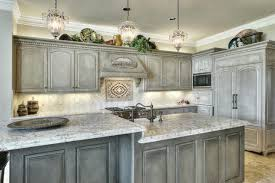 Grey Distressed Kitchen Cabinets Kitchen Cabinets Pinterest