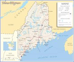 maine map with cities maine map toursmaps