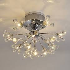 Chrome Flush Mount Ceiling Light by Fashion Style Close To Ceiling Lights 15 Lights And Up Crystal