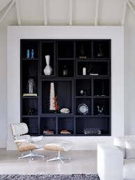 House Furniture Design Decorating Idea Black Backed Built Ins Boon White Furniture