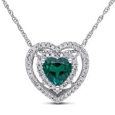 emerald heart necklace images Emerald gemstone necklaces for less jpg