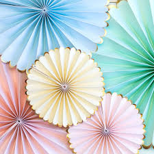 pastel pinwheels hanging decorations toot sweet pastel fan
