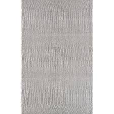 Chevron Print Area Rugs by Nuloom Herringbone Cotton Grey 8 Ft X 10 Ft Area Rug Hmco4c 8010