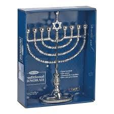 hanukkah candles for sale rite lite judaica polished silvertone menorah home