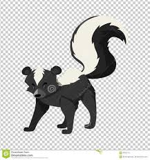 cute skunk on transparent background stock vector image 93037212
