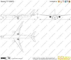 plan si es boeing 777 300er air boeing 777 300er vector drawing