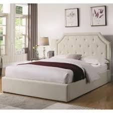 King Upholstered Platform Bed Coaster Hermosa Beige King Upholstered Platform Bed Dallas Tx