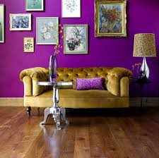 purple wall paint living room furniture purple and grey living