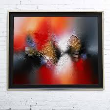 Tableau Abstrait Rouge Et Gris by Tableau Abstrait Moderne Contemporain Peinture Acrylique En Relief