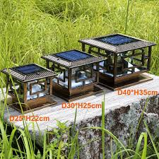 Outdoor Solar Table L D30 H25cm Led Outdoor Solar Powered Garden L Decoration Pillar