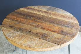 coffee table marvelous reclaimed wood round coffee table design