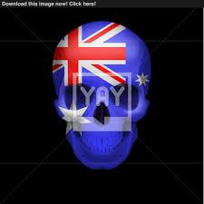 australian flag skull vector yayimages com