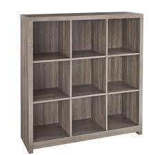 Closetmaid 3 Cube Organizer Closetmaid 37 In X 39 In Premium Weathered Teak 9 Cube Organizer