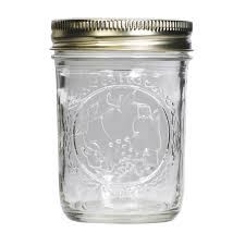 Clear Plastic Kitchen Canisters Kerr 8oz Wide Mouth Mason Jars 7061000500 12 Pack View All