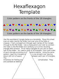 hexaflexagon template 3 free templates in pdf word excel download