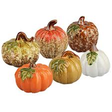 bulk glazed ceramic pumpkins at dollartree