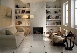 sophisticated livining room brown white floor tile with amazing