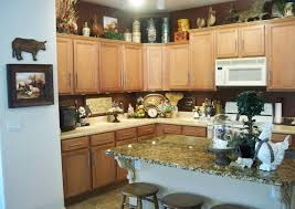 home design ideas owing the exciting interior style with the winsome rooster decor and wooden kitchen island with