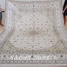 Large White Area Rug Yilong 9 U0027x12 U0027 Large White Persian Silk Area Rugs Bedroom Carpets
