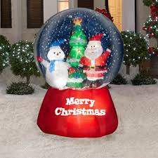 gemmy airblown inflatable 6 u0027 airblown inflatable snow globe with
