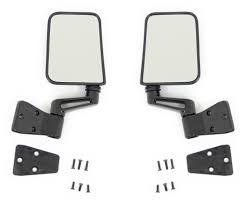 jeep wrangler mirrors highland parts chicago replacement black side mirrors for 1987