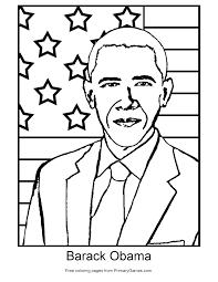 barack obama coloring page eson me