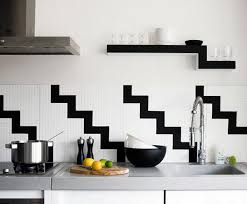 black and white kitchen backsplash beautiful black white kitchen design ideas
