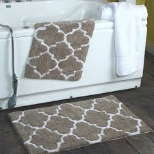 Cotton Bathroom Rugs 2 Moroccan Trellis 100 Percent Cotton Bath Rug Set 21 X 34