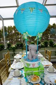 Centerpieces For Baby Shower by Air Balloon Centerpiece For A Baby Boy My Handmade Designs