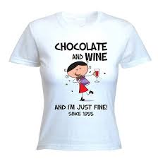 60 year birthday t shirts buy tribal t shirts womens chocolate wine since 1955 60th