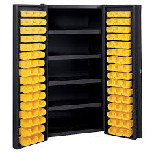 Storage Cabinets Amazon Com Edsal Manufacturing Bc6202blk Industrial Bin Storage