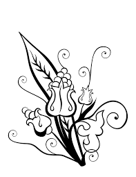 flowers black and white drawing clipart best tattoos ezflowers owl