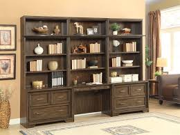 Dark Bookcase Meridien 6 Piece Library Desk Lateral File Bookcase Wall In
