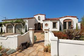 awesome spanish style homes with white wall and fence paint color