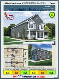 Home Building Plans And Prices by Humboldt Two Story Duplex Modular Home Price Form All American Homes