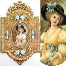 Gilt Bonze Enameled Portrait 16 Best Marquise De Montesson Images On Portraits Faces
