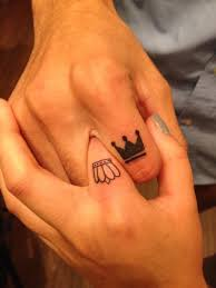 king and queen crown tattoo design idea for finger golfian com