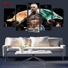 Canvas Painting For Home Decoration by 5 Piece Conor Mcgregor May Picture Painting On Canvas For Wall Art