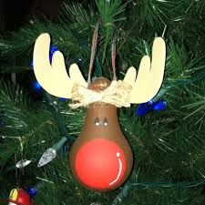 lightbulb ornaments rudolph light bulb ornament craft ideas