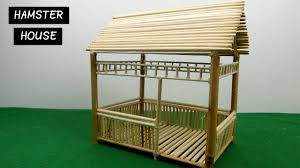 diy hamster house miniature hut from bamboo sticks 13 easy