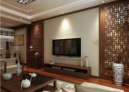 design style woodcarving tv wall