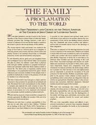 family proclamation the proclamation the family a proclamation to the world