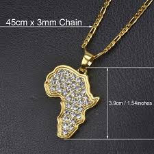 african women necklace images Anniyo 9 style africa map pendant necklace for women men silver jpg