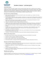 Financial Advisor Resume Examples by Resume Academic Advisor Resume Sample