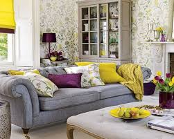 spring living room decorating ideas beautiful colorful spring living room design with cozy grey leather